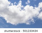 soft white clouds against blue... | Shutterstock . vector #501233434