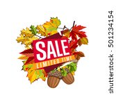 autumn sale design template ... | Shutterstock .eps vector #501234154