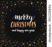 merry christmas card. vector... | Shutterstock .eps vector #501235834