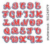 alphabet logos with stars in... | Shutterstock .eps vector #501243979