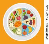 set healthy food products | Shutterstock .eps vector #501244639
