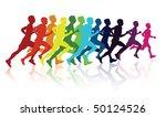 runners | Shutterstock .eps vector #50124526