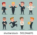 different positions and actions ... | Shutterstock .eps vector #501246691