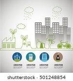 environmental issues... | Shutterstock .eps vector #501248854