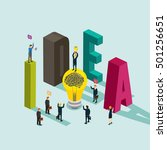 business idea isometric concept | Shutterstock .eps vector #501256651
