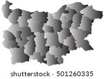 vector map bulgaria country on... | Shutterstock .eps vector #501260335