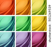 vector set of colored red... | Shutterstock .eps vector #501269539