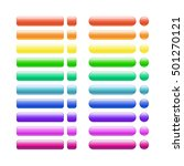 set of colored glass buttons... | Shutterstock .eps vector #501270121