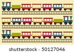 train pattern | Shutterstock .eps vector #50127046