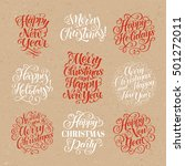 vector christmas set of... | Shutterstock .eps vector #501272011