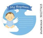 baptism boy. space for text | Shutterstock .eps vector #501277615