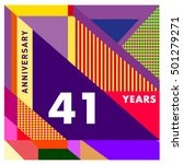 41th years greeting card... | Shutterstock .eps vector #501279271