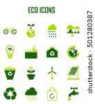 ecology icons set | Shutterstock .eps vector #501280387