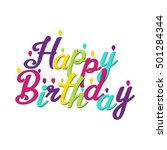 happy birthday inscription | Shutterstock .eps vector #501284344