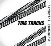 tire track road. vector...   Shutterstock .eps vector #501286159