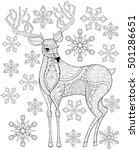 vector zentangle christmas... | Shutterstock .eps vector #501286651