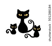 black cat | Shutterstock .eps vector #501288184