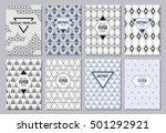 set of flyer  brochure or... | Shutterstock .eps vector #501292921