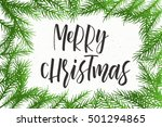 christmas. new year calligraphy ... | Shutterstock .eps vector #501294865