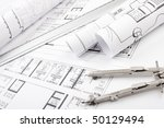 architectural plans and... | Shutterstock . vector #50129494