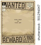 vector template. retro poster... | Shutterstock .eps vector #501296047