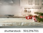 Kitchen Interior Of White...