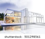 3d rendering of a luxurious... | Shutterstock . vector #501298561