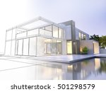 3d rendering of a luxurious... | Shutterstock . vector #501298579