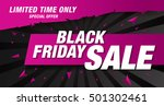 black friday sale banner | Shutterstock .eps vector #501302461