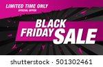 black friday sale banner   Shutterstock .eps vector #501302461