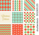 christmas seamless pattern in... | Shutterstock .eps vector #501305155