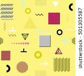 trendy geometric elements... | Shutterstock . vector #501305587