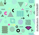 trendy geometric elements... | Shutterstock . vector #501308689
