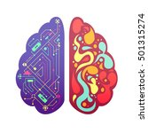 left and right human brain... | Shutterstock .eps vector #501315274