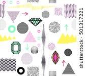 trendy geometric elements... | Shutterstock . vector #501317221