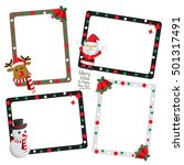 set of christmas photo  frame... | Shutterstock .eps vector #501317491
