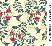 Flowers Fuchsia Pattern With...