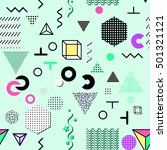 trendy geometric elements... | Shutterstock . vector #501321121