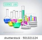 laboratory bottles composition... | Shutterstock .eps vector #501321124