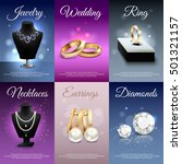 colorful jewelry realistic... | Shutterstock .eps vector #501321157