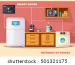 internet of things iot smart... | Shutterstock .eps vector #501321175