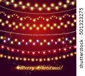 shining garlands. christmas... | Shutterstock .eps vector #501323275