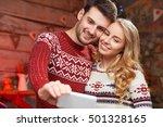 christmas time family self...   Shutterstock . vector #501328165