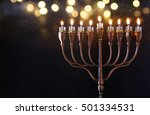 Low Key Image Of Jewish Holida...