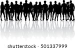 group of people. crowd of... | Shutterstock .eps vector #501337999