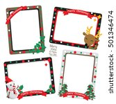 set of christmas frames vector... | Shutterstock .eps vector #501346474