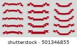 vector set of different red... | Shutterstock .eps vector #501346855