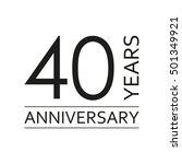 40 years anniversary emblem.... | Shutterstock .eps vector #501349921