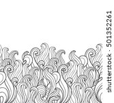 abstract seamless hand drawn... | Shutterstock .eps vector #501352261