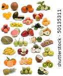 fruits isolated on a white... | Shutterstock . vector #50135311